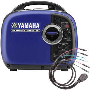 Yamaha Generator with Sidewinder 30-amp prallel cable