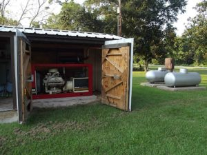 Large Propane Tanks and Generator